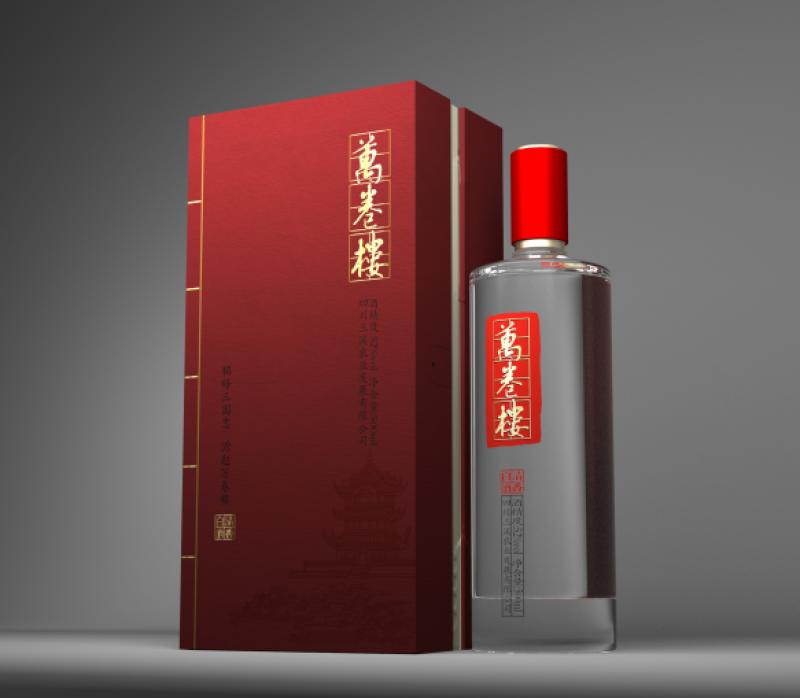 仪陇纯粮酿造万卷楼红卷52度清香型白酒98元/斤