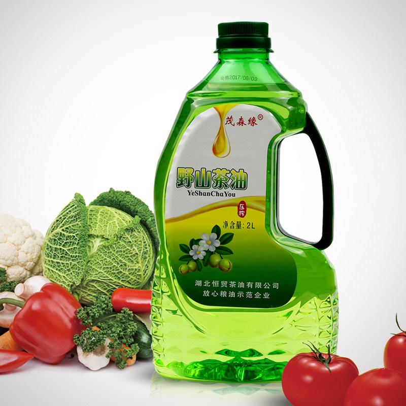 茂森缘野山茶油 有机山茶籽油 2L家庭装食用油 一级茶油