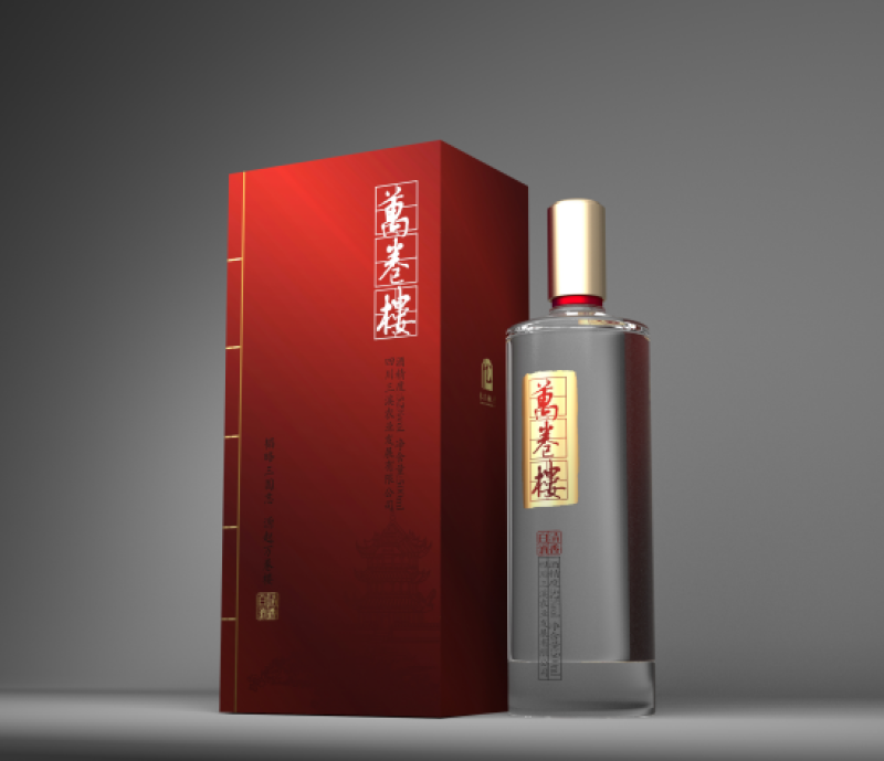 仪陇纯粮酿造万卷楼金卷52度清香型白酒198元/瓶