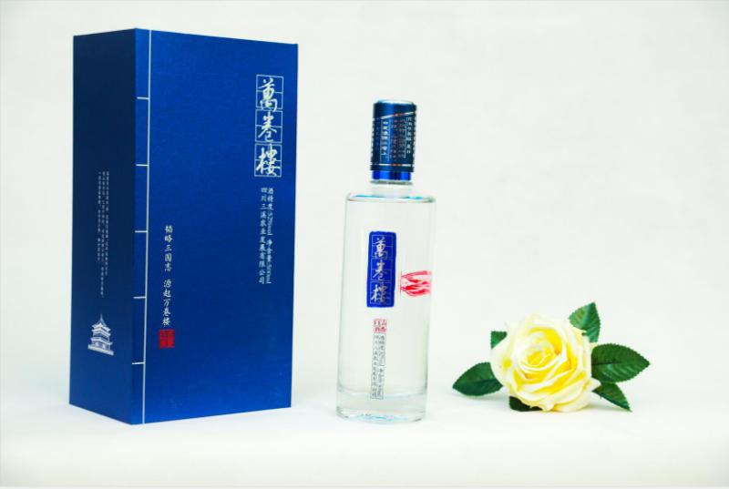 仪陇纯粮酿造万卷楼 蓝卷52度浓香型白酒398元/瓶