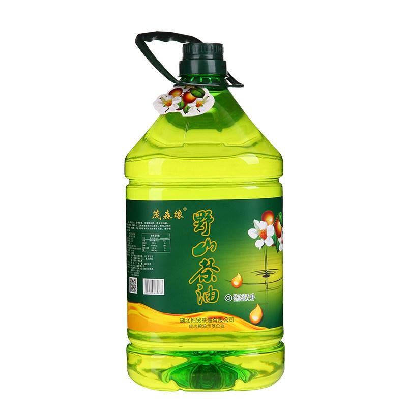 茂森缘野山茶油 有机山茶籽油 5L家庭装食用油 一级茶油